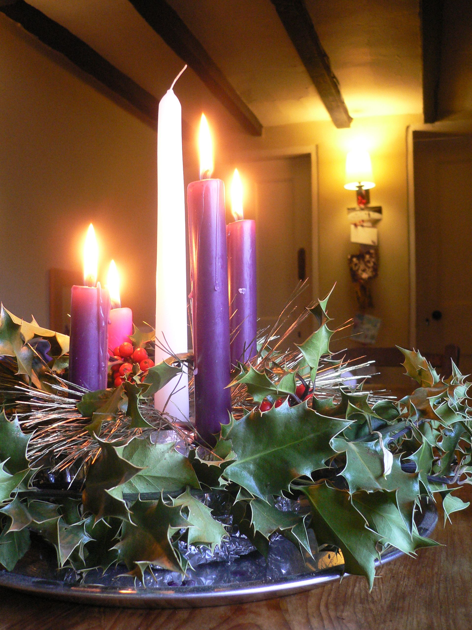 The Ring Or Wheel Of The Advent Wreath Of Evergreens