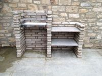Our home-made stone brick barbeque! | Outdoor Designs ...