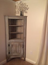 Milk painted corner hutch. Quality, handcrafted furniture ...