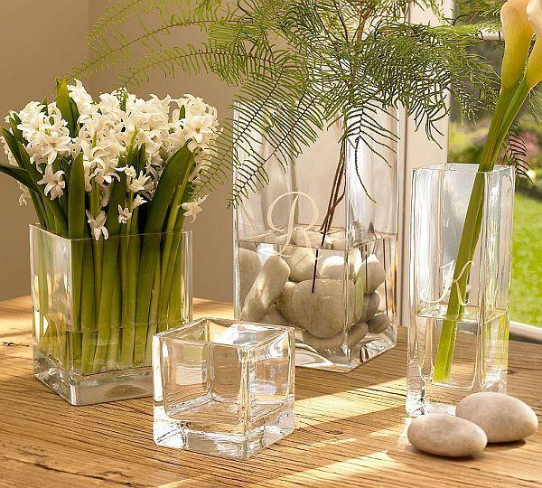 Square Glass Vases Glass Vase Flower And Glasses