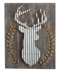Look at this #zulilyfind! Wood & Corrugated Metal Deer ...