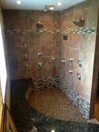 Our new custom master bathroom, complete with a whirlpool