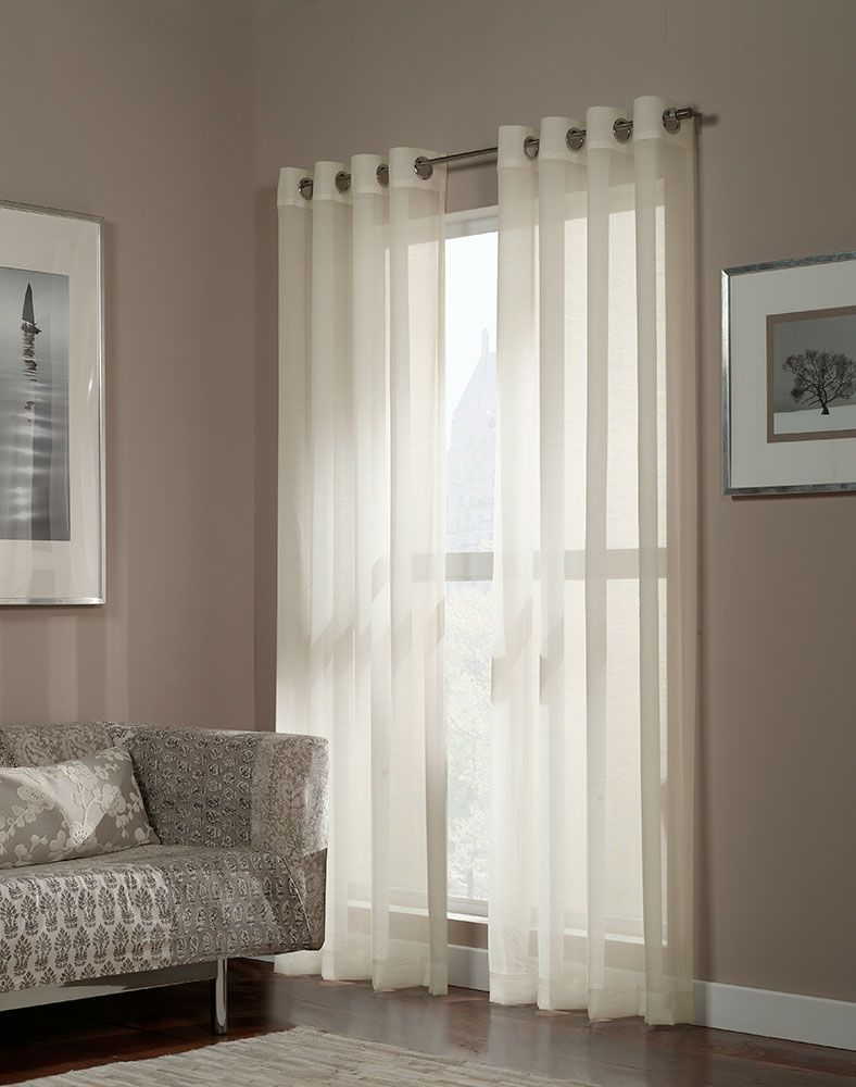 Great look for great prices Hmmmm ideas are abrewing Melrose Shimmer Sheer Grommet Curtain