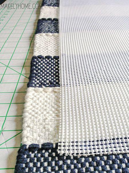 how to create a non-slip bath mat from a cotton rug | bath rugs