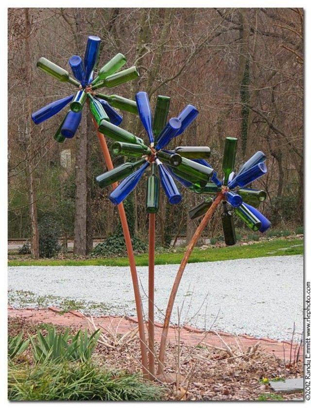 "DIY ""Junk"" Garden Art Gardens Garden Art And DIY And Crafts"