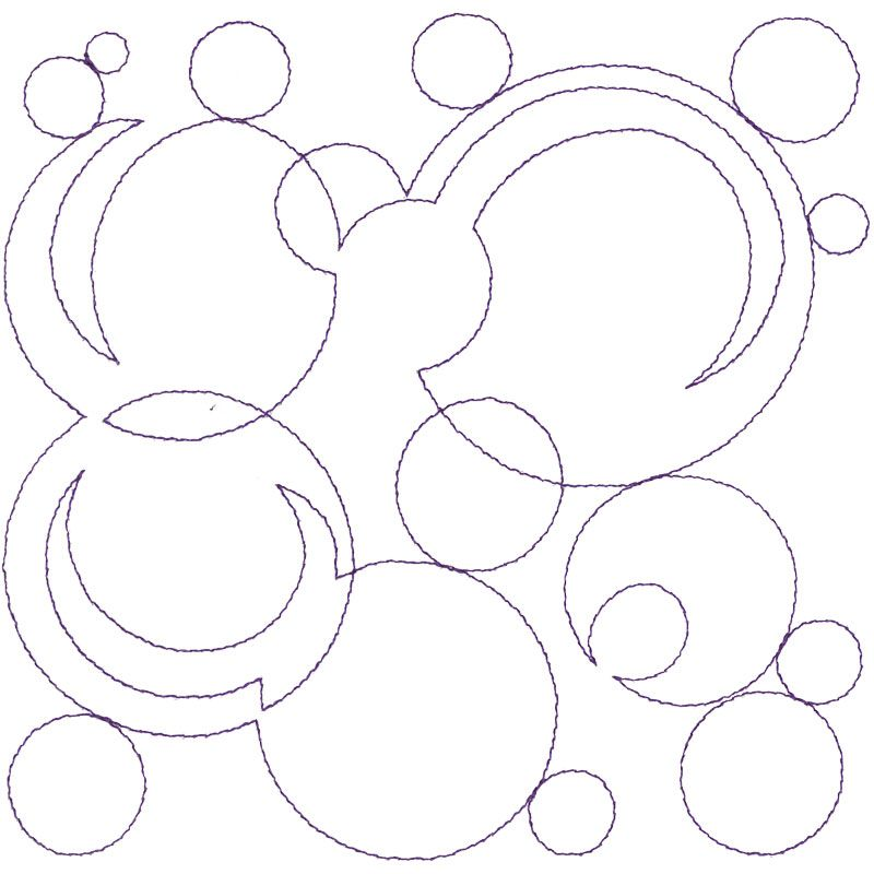 Single Run Quilting Motif 3 from Modern Continuous Line