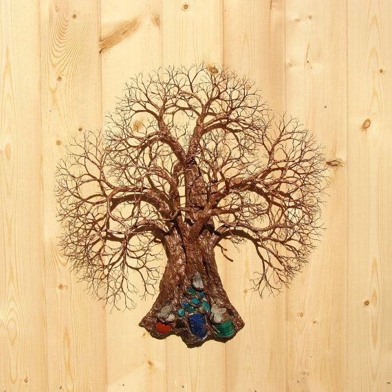16 Inch Wire Tree Of Life Sculpture Wall Decor Ancient Grove Tree