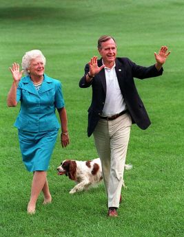 Image result for George H. W. Bush and dog