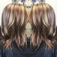 Copper brown, beige blonde, Carmel, multi tonal highlight ...