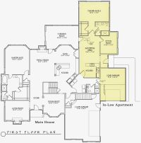 modern house plans with inlaw suite