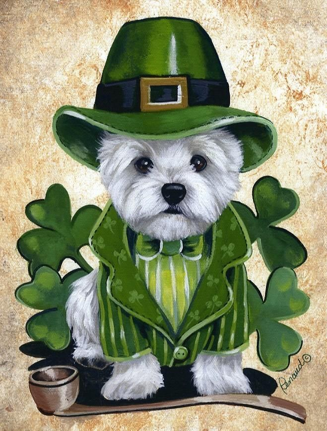 Cute Wallpaper St Pattys Day Pupppy St Patricks Day Westie St Patrick S Pinterest St