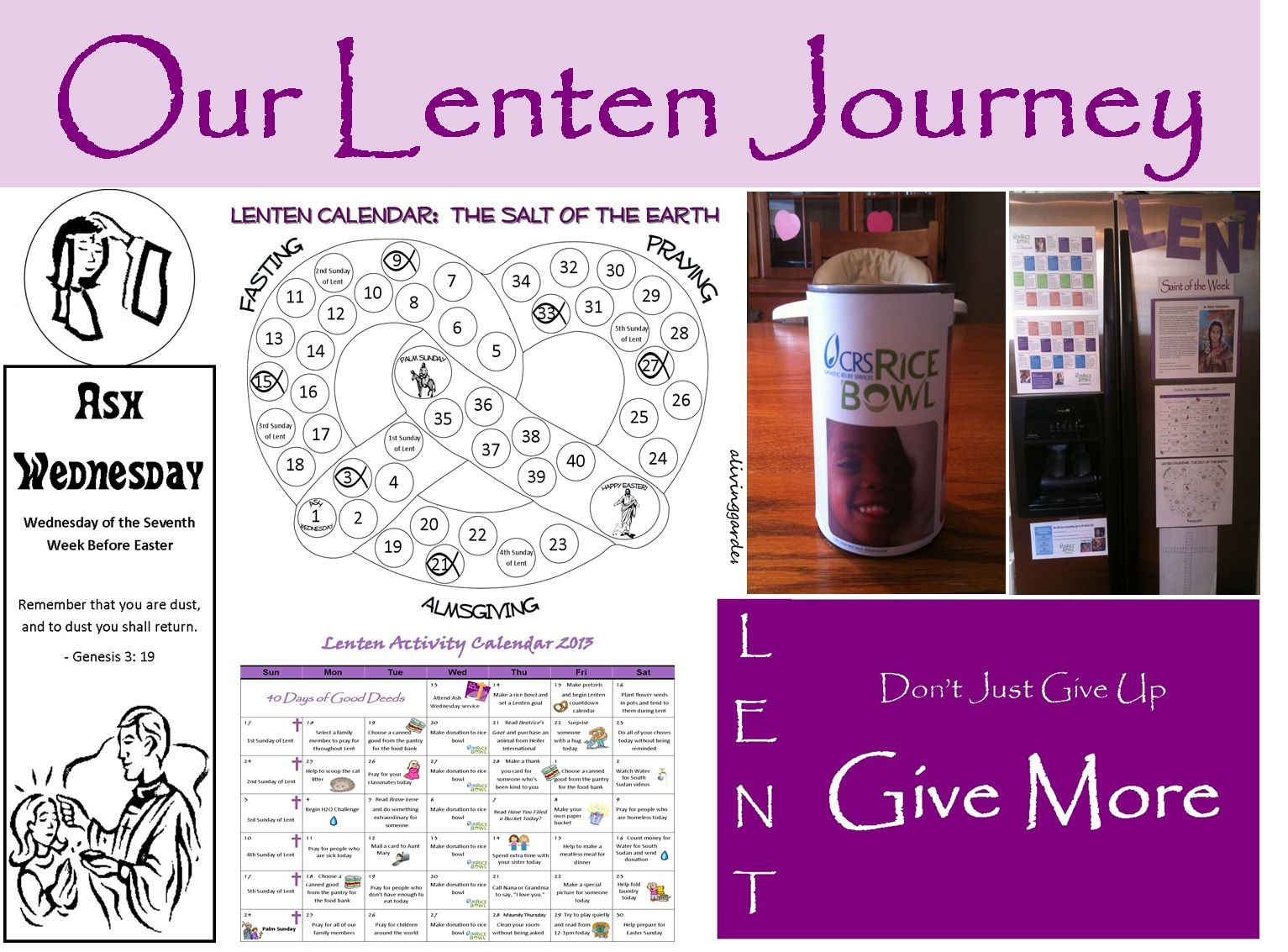 Printable Lenten Journey Pathway For Children