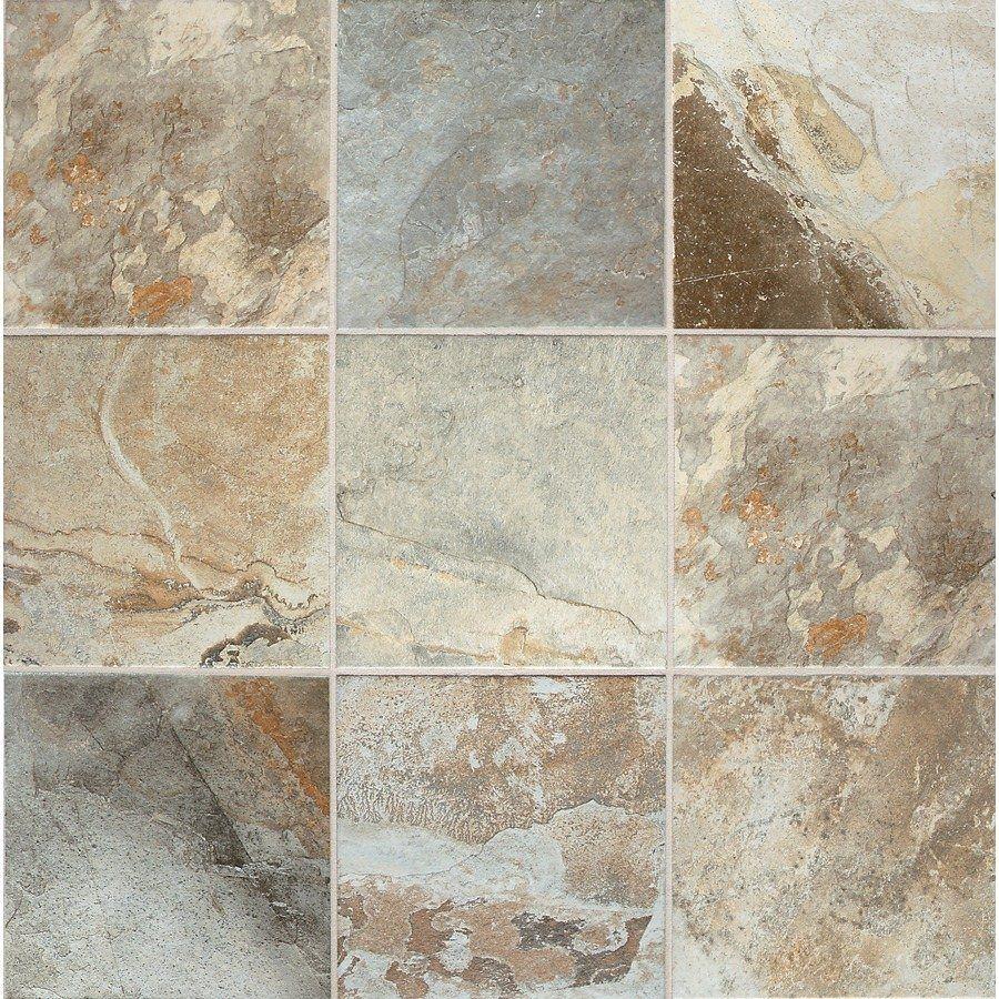 Rustic Slate Cascade Glazed Porcelain Indoor/Outdoor Floor