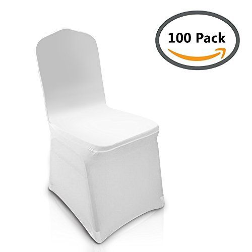 spandex folding chair covers amazon desk no swivel home decorators collection homdox universal 100pcs white lycra metal plastic decoration for wedding banquet party