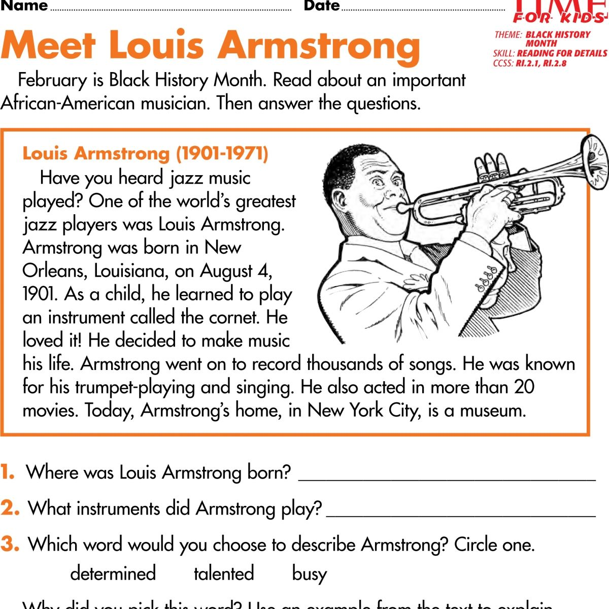 Students Read About The Achievements Of Four Famous African Americans Description From