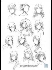 coloriage de manga coiffure