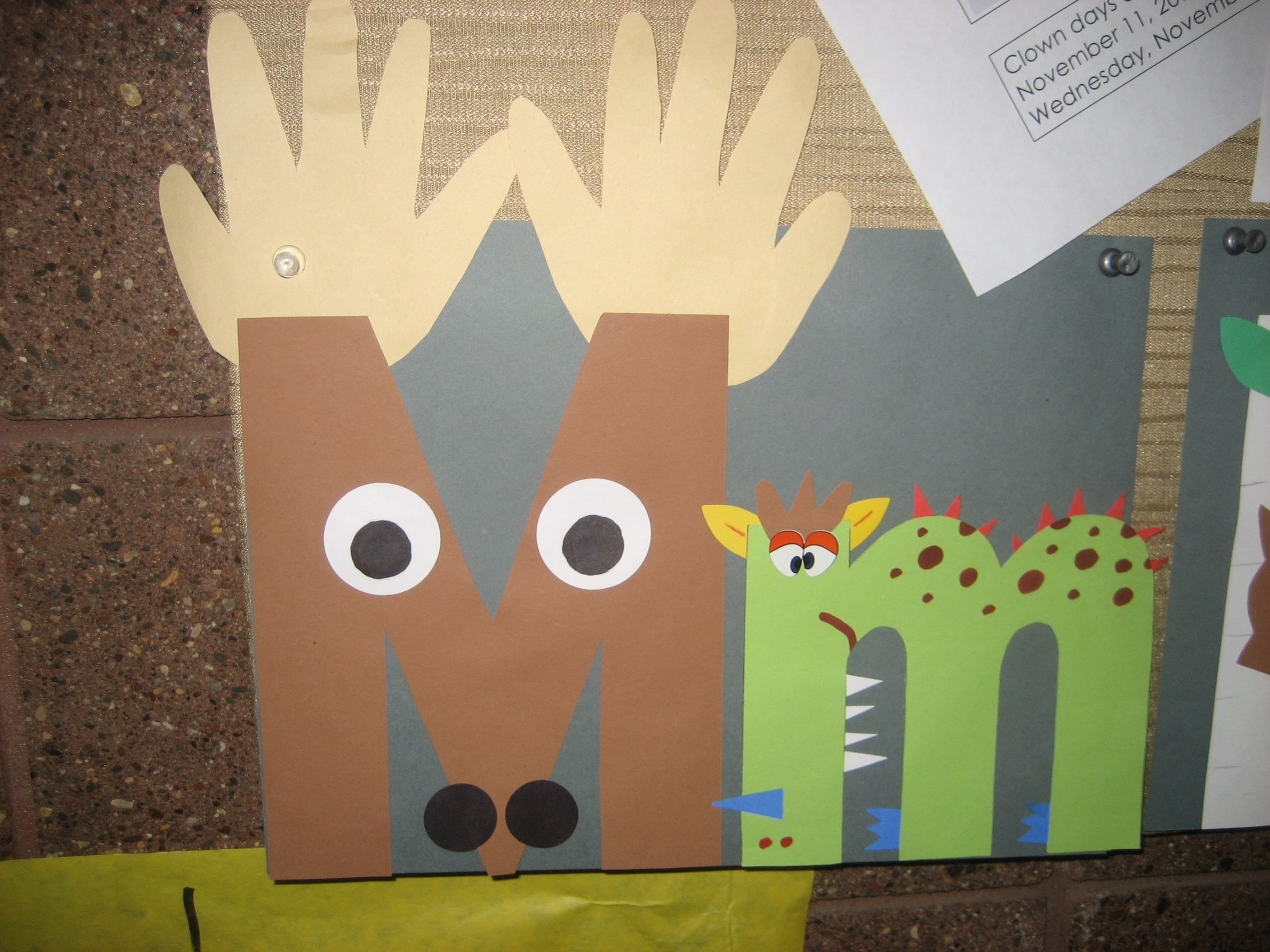 Mm Letter Of The Week Art Project Moose Amp Monster