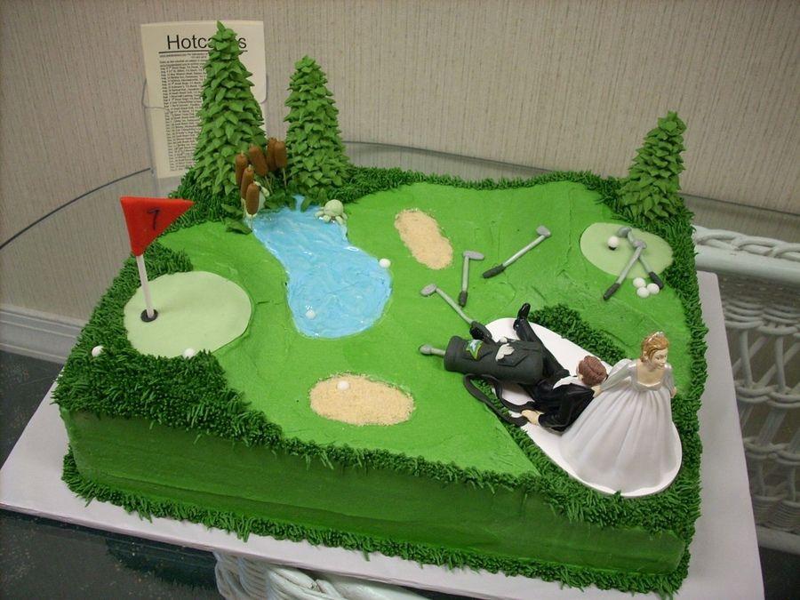 groom wedding cakes golf theme  Golf Grooms Cake  Groom