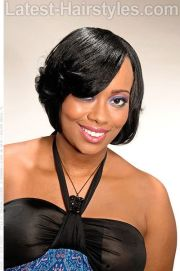 lady sophisticated bob hairstyle