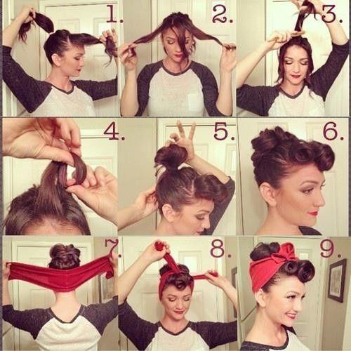 Hairstyle Mit Tuch Haare Und Beauty Pinterest Tücher Frisur