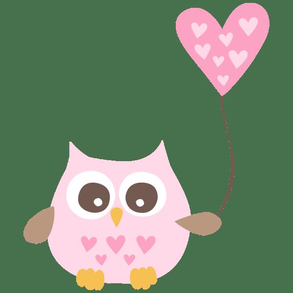 Cute Baby Girl Owl Clip Art