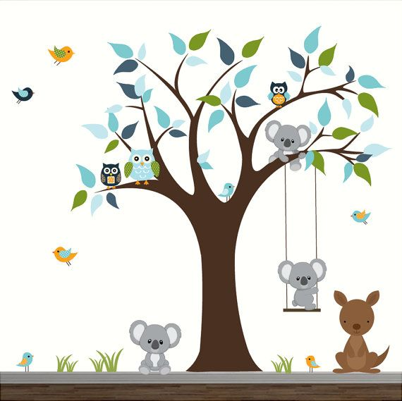 Stickers Animaux De La Foret Latest Vovotrade Fort Animaux Elephant Squirrel Stickers Muraux