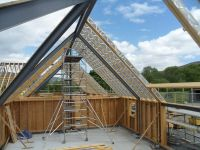 40' vaulted parallel chord truss