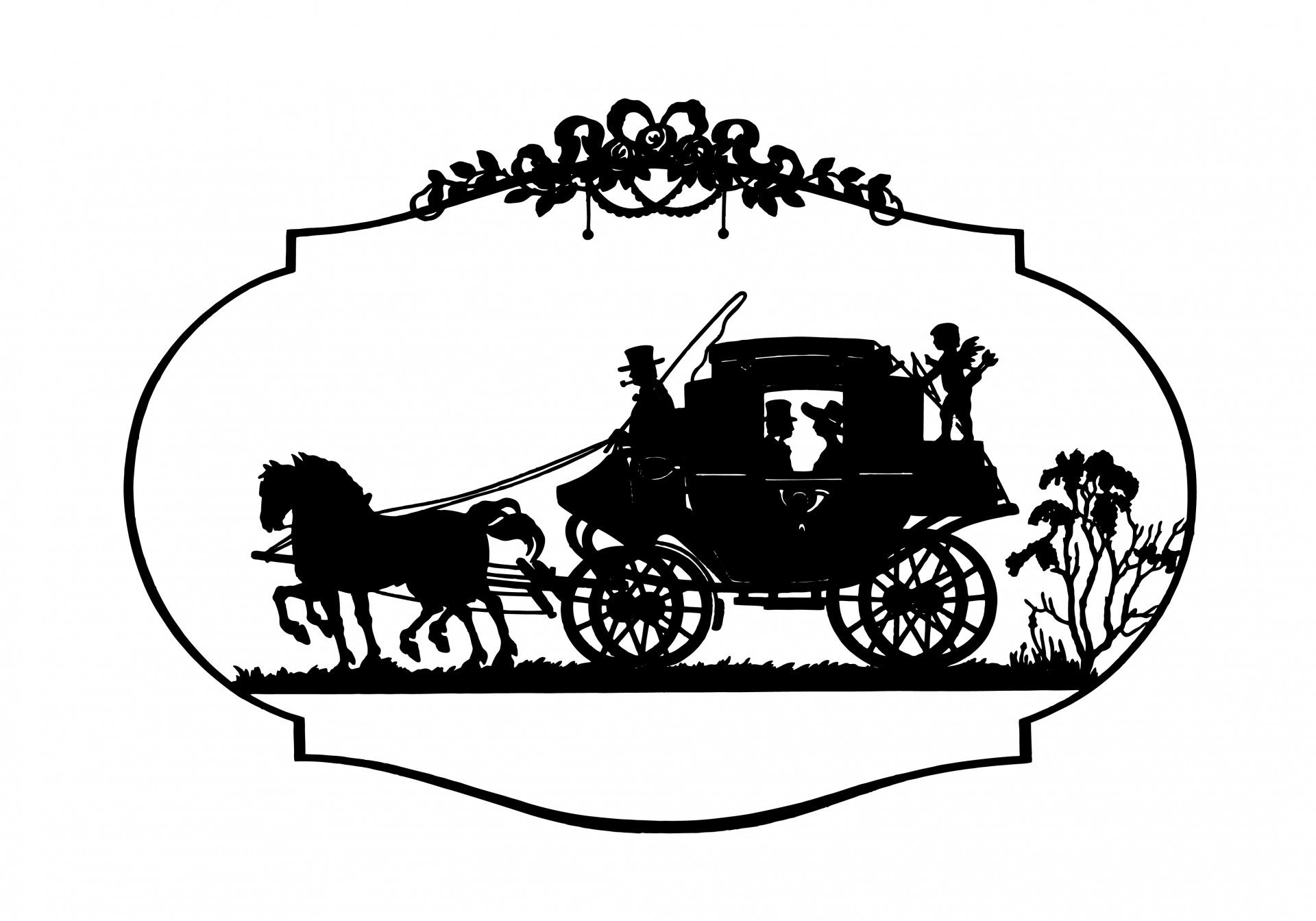 Horse Amp Carriage Vintage Clipart Free Stock Photo Hd