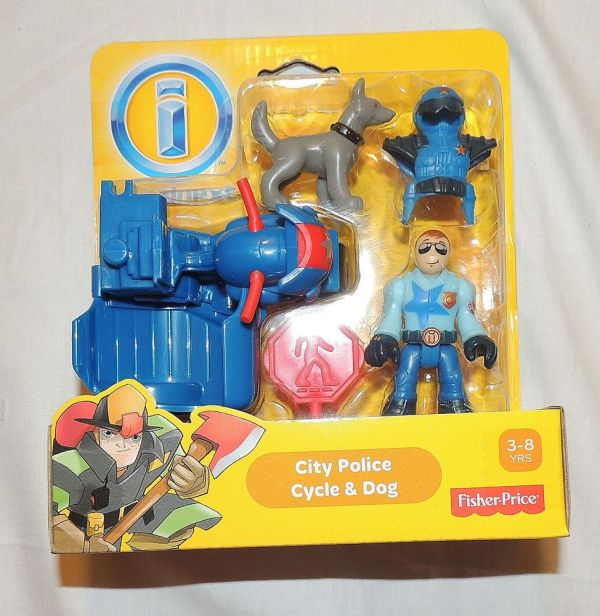 Fisher Imaginext City Police Cycle Dog Rescue