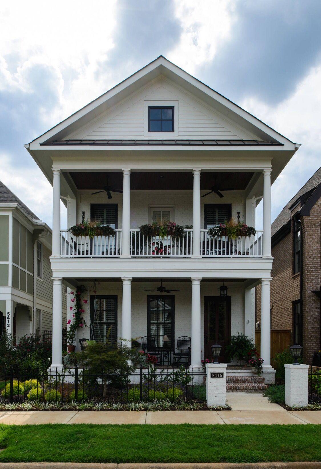 Narrow Lot House Design Charleston Style Row House Stacked