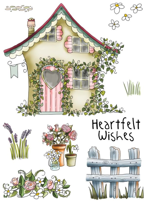 country cottage clear stamp set