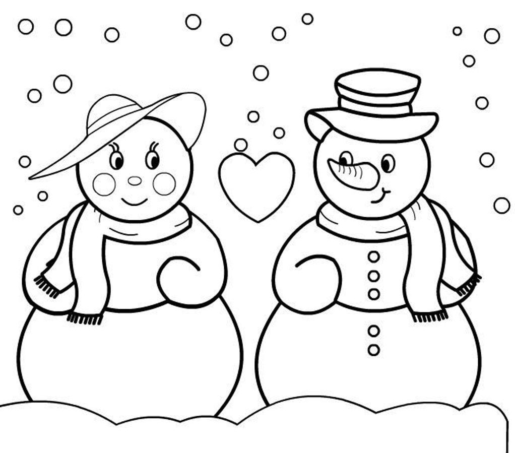 Snowman Coloring Pages Christmas Christmas Coloring Pages Of