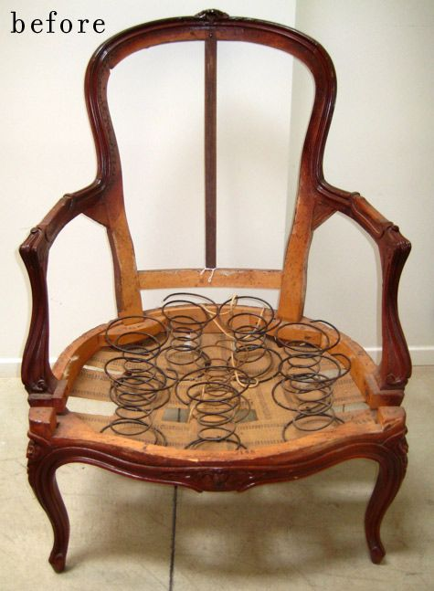 How to upholster an antique chair  For the new HOUSE