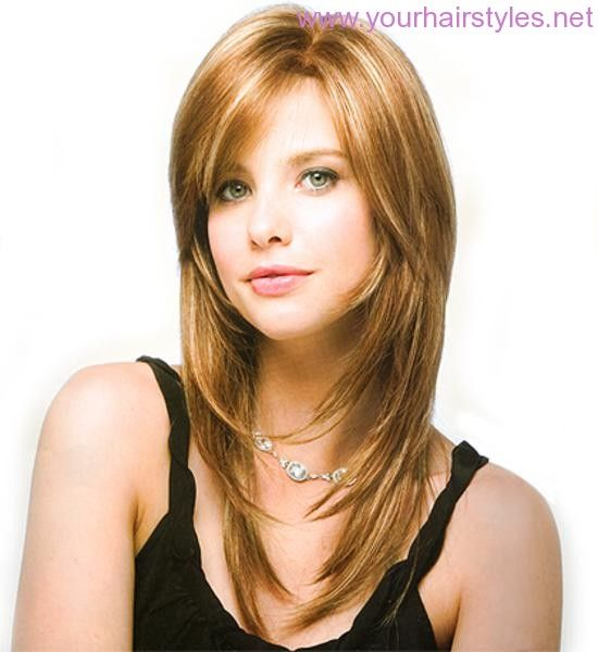 2013 New Layered Haircuts For Too Long Hair With Side Bangs Photos