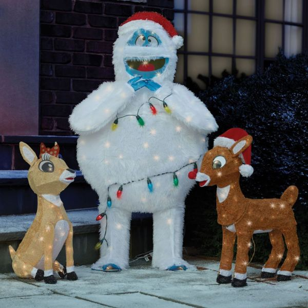 rudolph bumble outdoor christmas decoration
