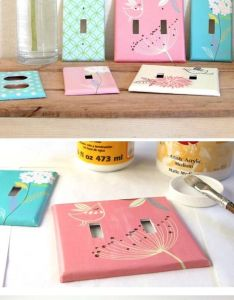 Diy designer switchplates home decor ideas on  budget click for tutorial also rh pinterest