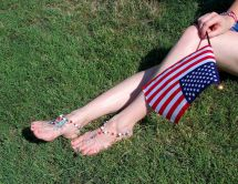 Independence Day Usa Patriotic Barefoot Sandals 4th Of