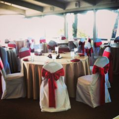 Gold Chair Covers With Black Sash Chairs At Marshalls Satin Table Cloth Red White Cover