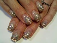 Super Sparkle Silver and Gold Glitter Gel Nails | My Work ...