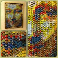 mona lisa bottle cap art | For the Home | Pinterest ...