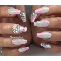White Nails With Glitter Ombre   www.imgkid.com - The ...
