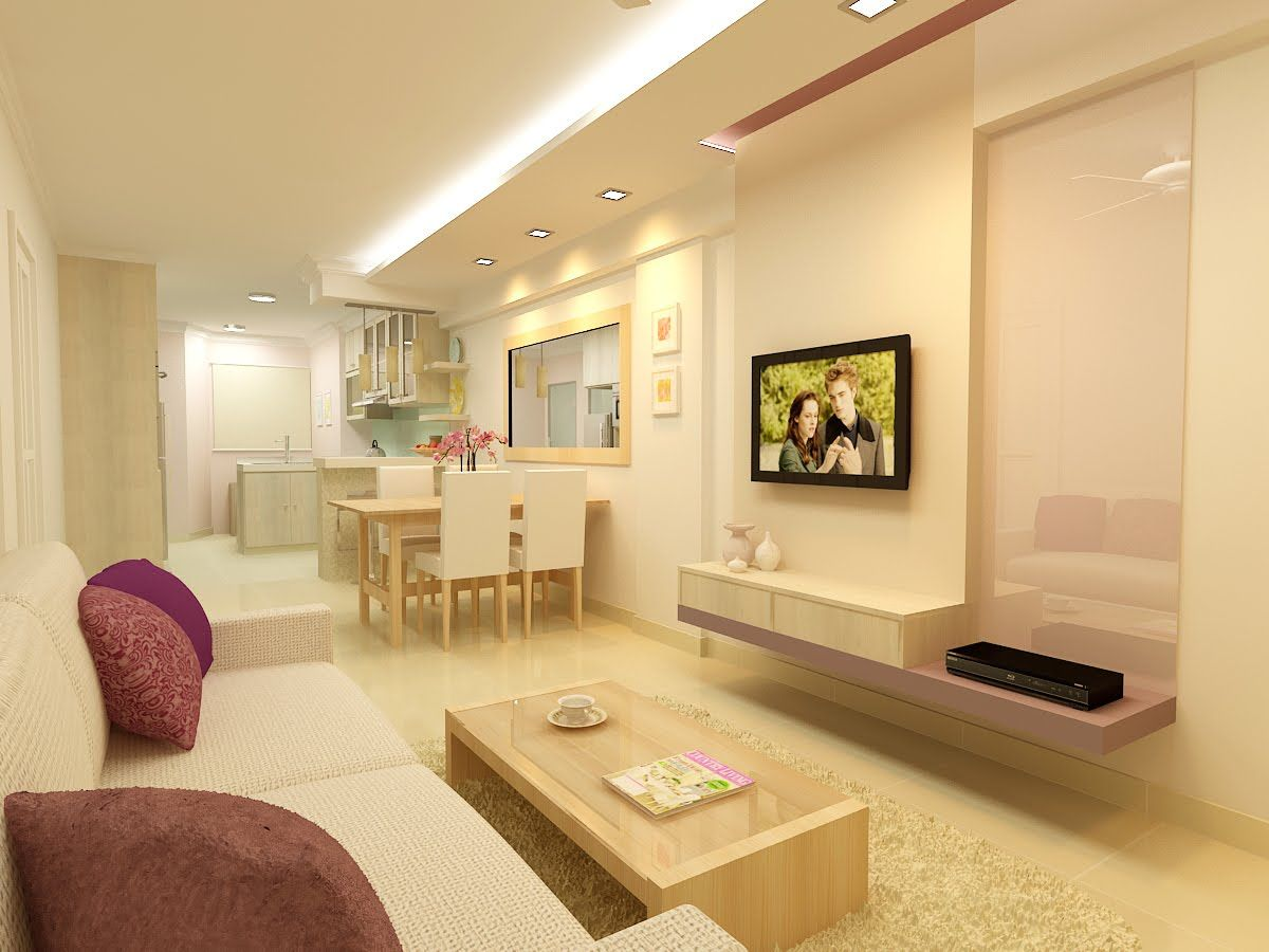 I love how clean and sweet this HDB living room is  2