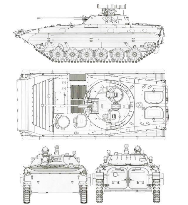 BMP-2 IFV tracked armoured infantry fighting vehicle data