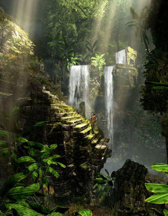 Fall Masquerade Fantasy Art Wallpapers Vita Uncharted Golden Abyss Artwork Jungle Ruins