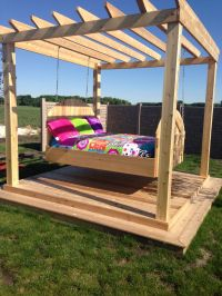 Outdoor swing bed | Fun stuff | Pinterest | Outdoor swing ...
