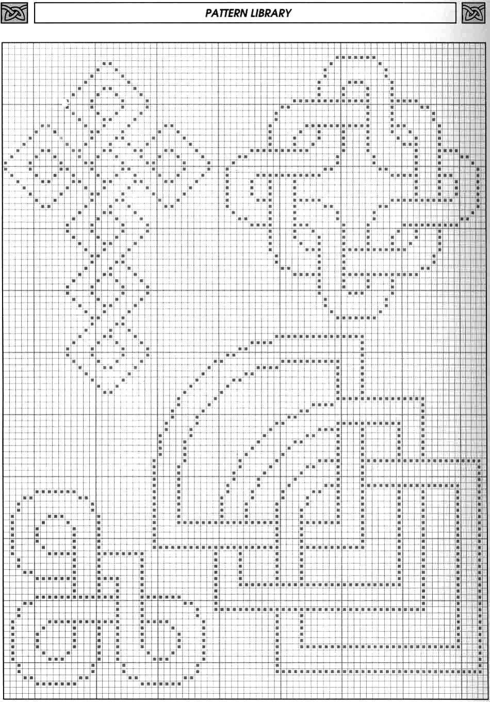 I need small Celtic cross pattern in filet crochet.