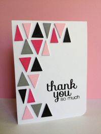 Choose fun colors for the triangles on this handmade thank