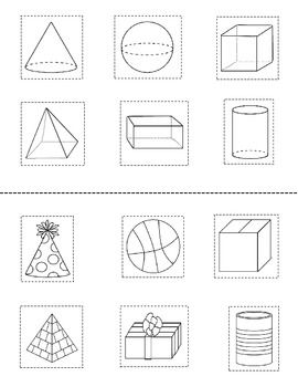 3D Shape Activity {My 3D Shapes Mini-Book} {Common Core