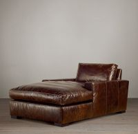 Maxwell Leather Chaise, Restoration Hardware Mergsy ...