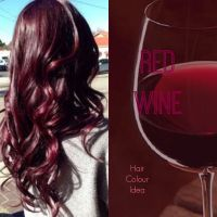 Red Wine Hair Colour #redhair #burgundyhair #haircolour ...